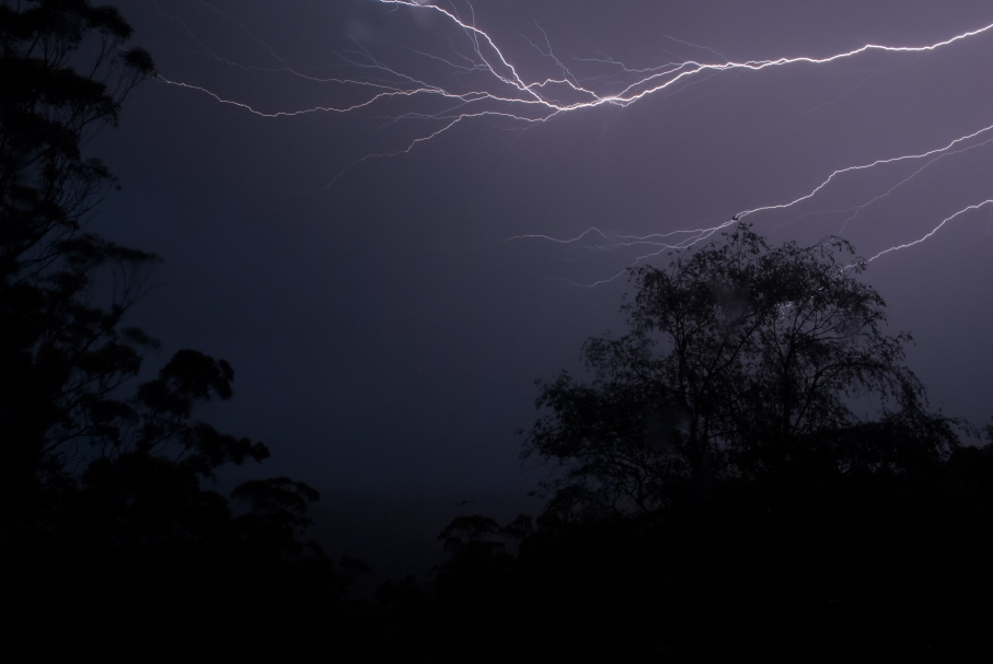 Lightning at Mount Wilson